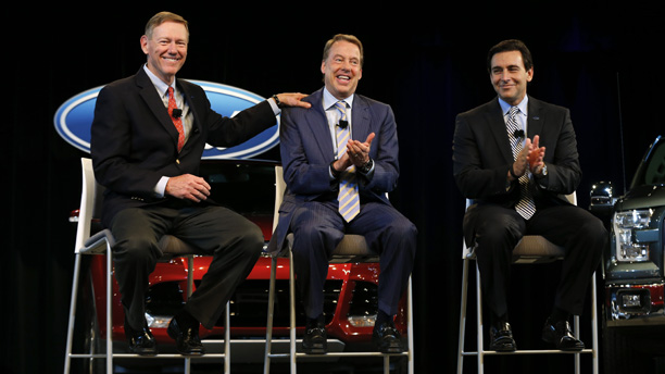 Mulally, Ford Jr and CEO to be Mark Fields